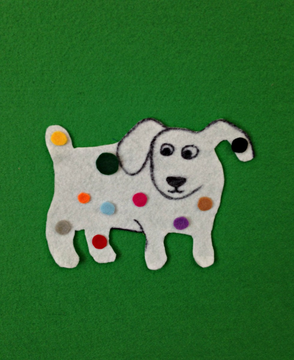 Dog's Colorful Day Flannel Graph