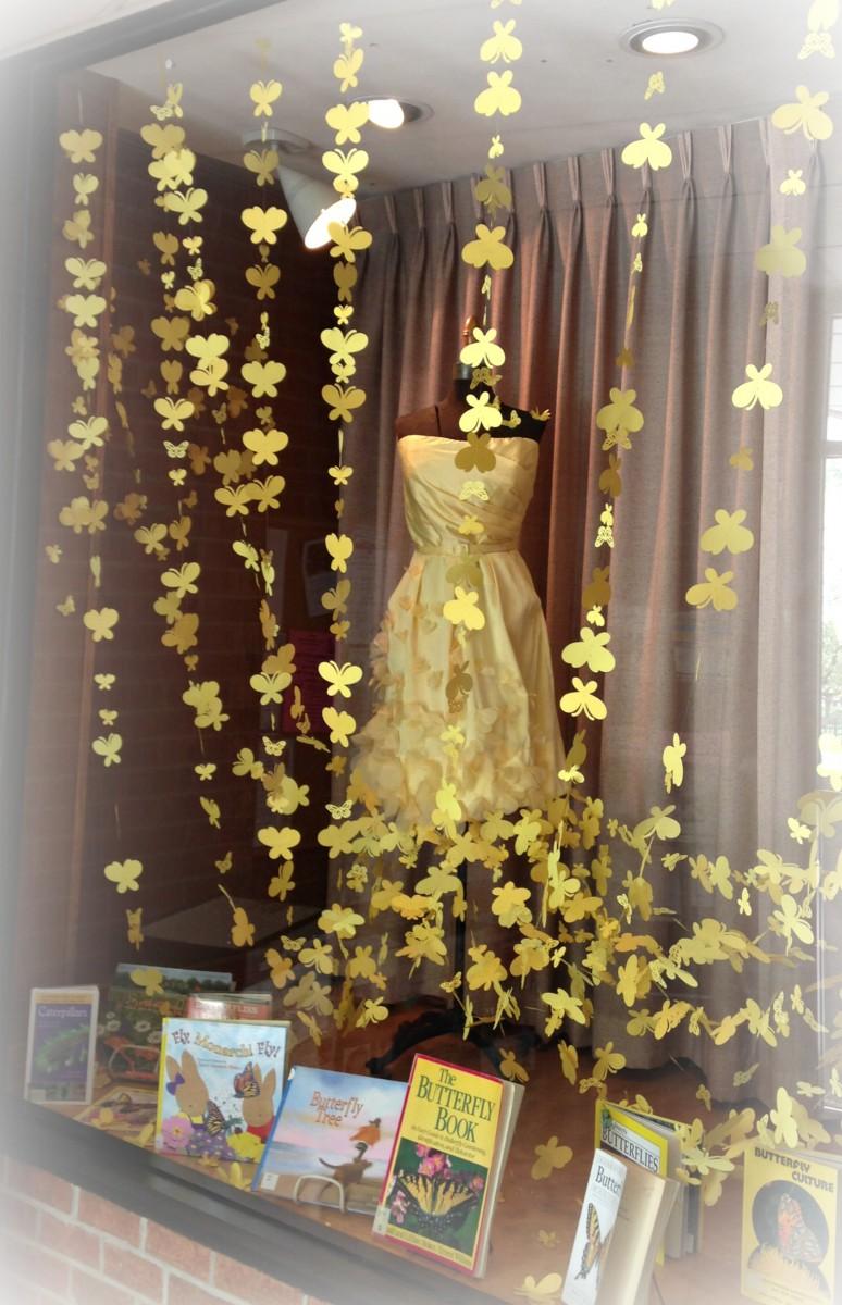 Butterfly Dress Window