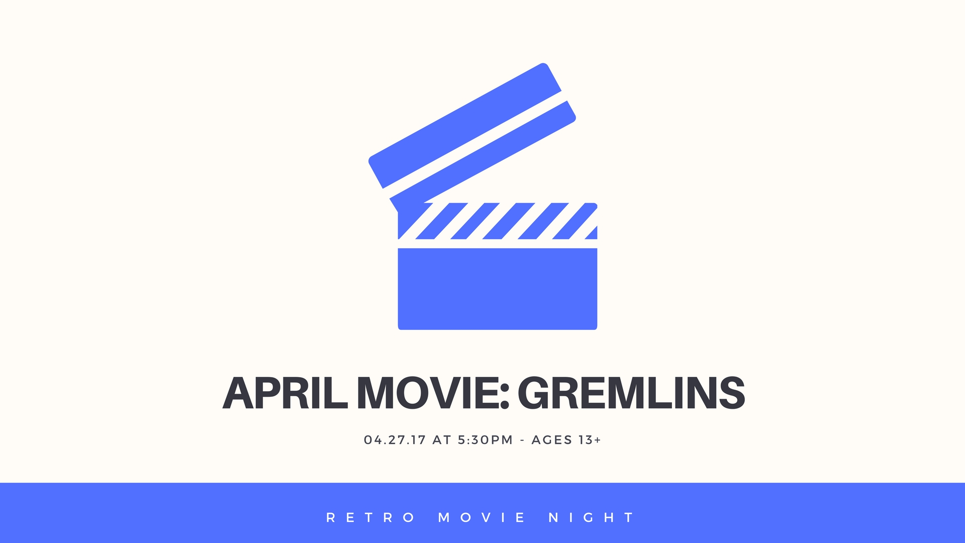 on sale 4bd3c ed551 Retro Movie Night is a new monthly program! Each month we will be watching  retro movies (made in the 80 s or earlier). We will have movie snacks to  offer ...