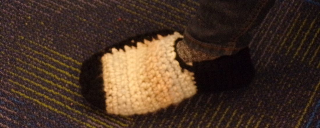crochet a slipper