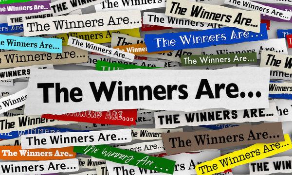 winners are
